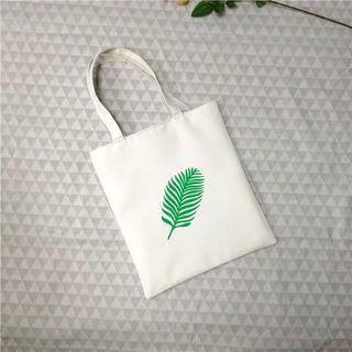 🚚 葉子🍃白色帆布包 大容量 防水