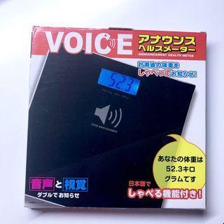 全新 日本直送發聲體重電子磅 減肥 白色 100%new