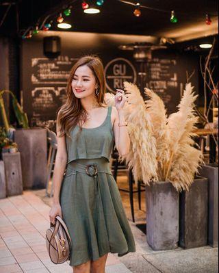 Neonmello belt dress