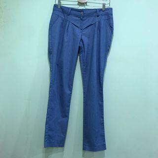 🉐️正韓天藍色直筒休閒褲