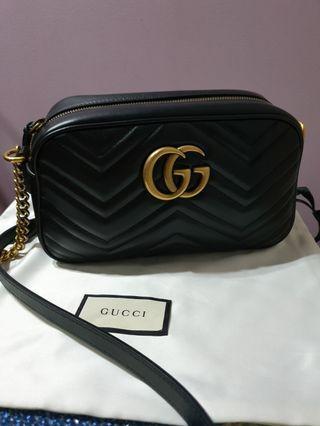 f383106e4e0 Authentic Gucci Marmont Camera Bag in small size