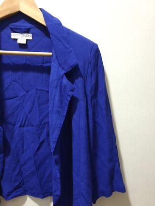 Cotton on indigo blazer
