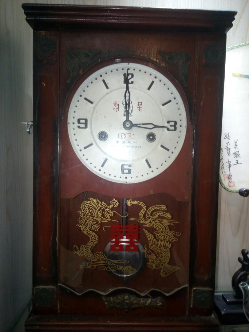 机械钟。60年代。良好。45X27cM