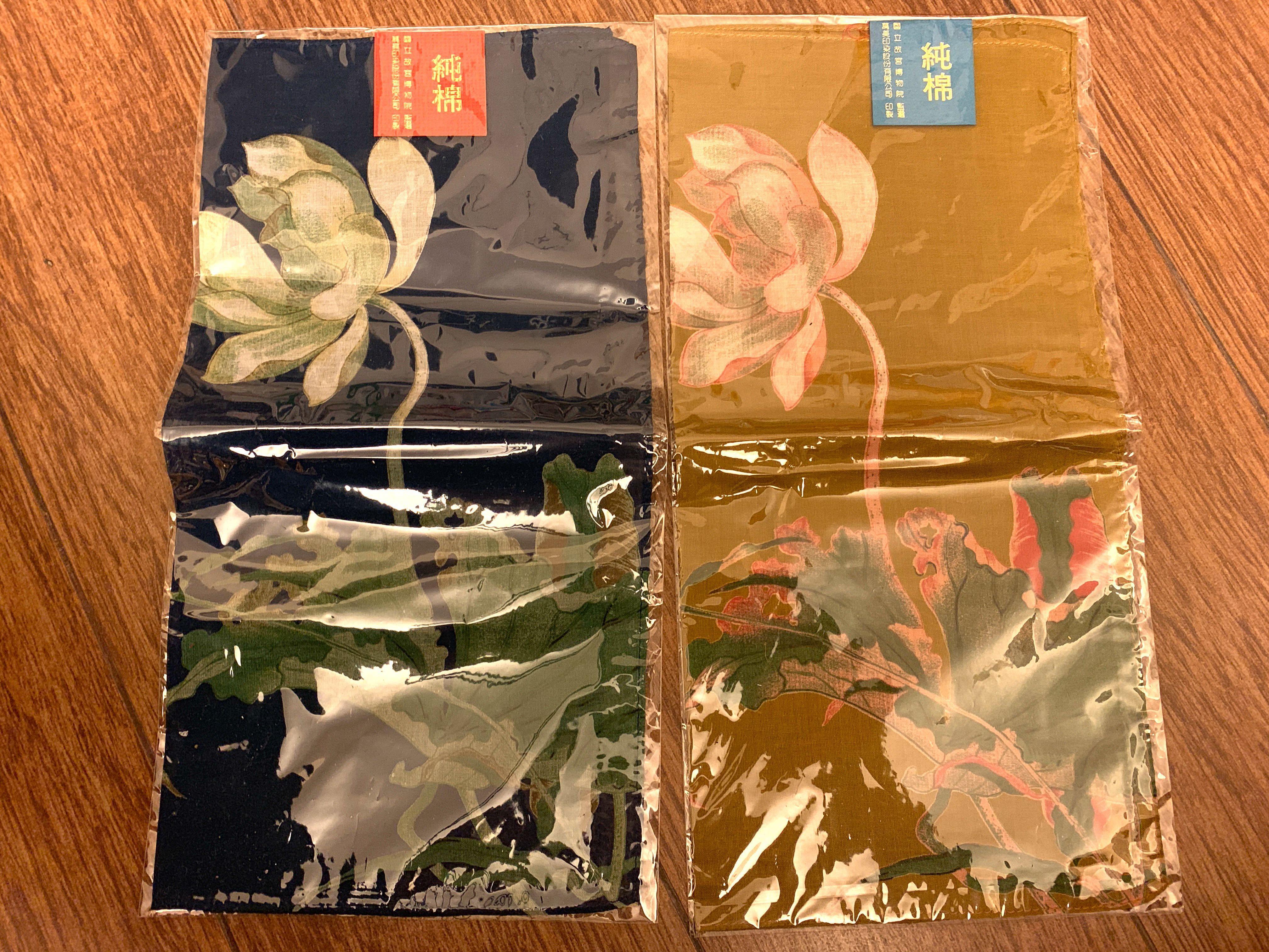 全新台灣純棉印染彩色手帕