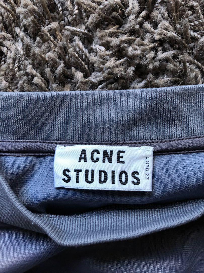 Acne studios 'NEW MUSIC' sleeveless top in grey
