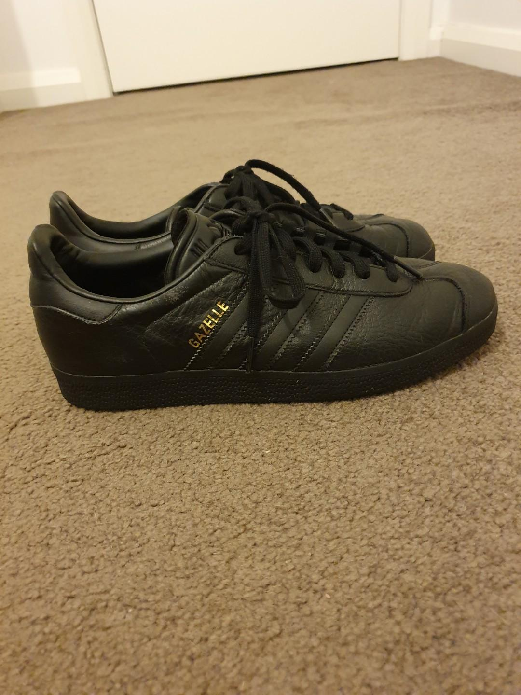 Adidas Originals Gazelle sneakers in black leather - US 8