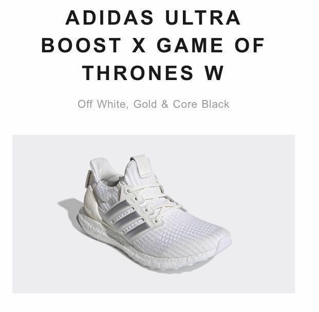 a1e4cbd58 ADIDAS ULTRA BOOST X GAME OF THRONES W Off White