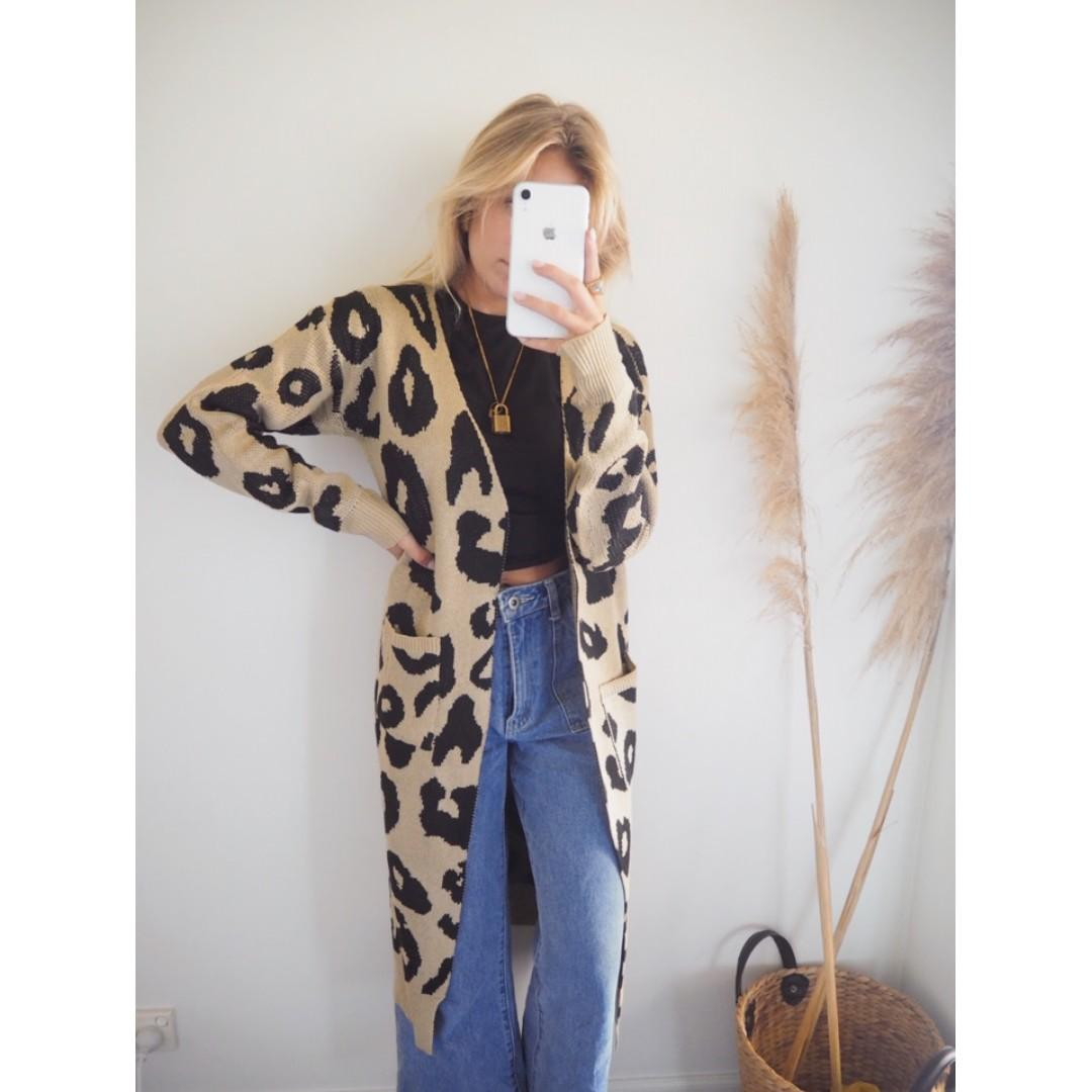AFTERPAY AVAILABLE - Leo Maxi Cardigan - Sizes XS - LARGE available
