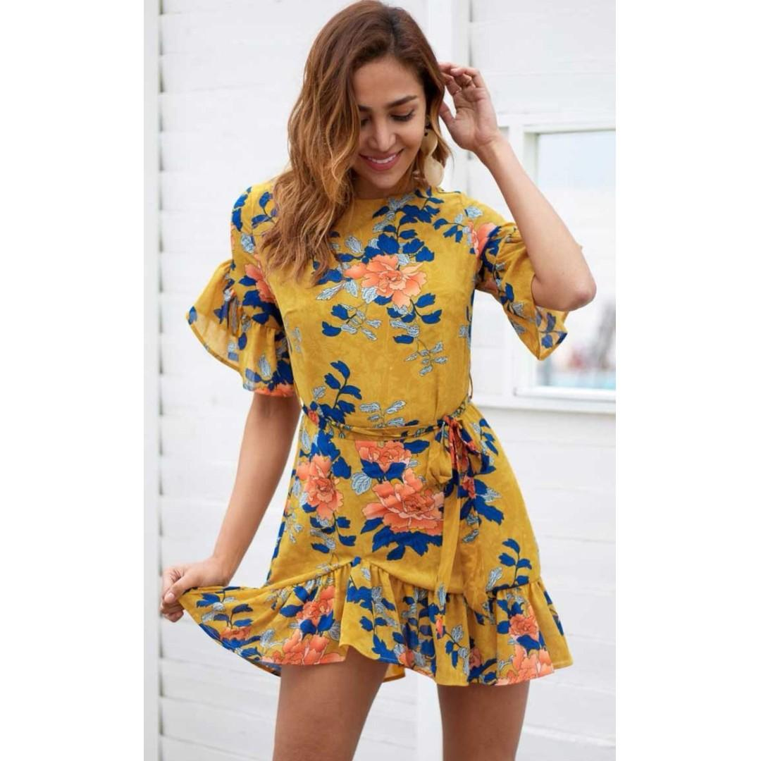 AFTERPAY AVAILABLE - Superlove Floral Dress - Sizes SMALL & LARGE Available