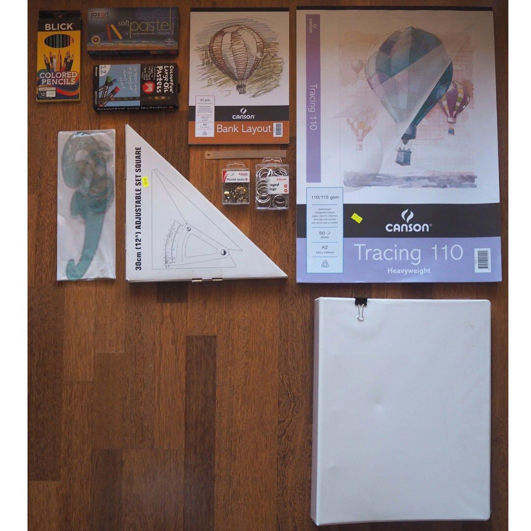 Architect/Design Student Drawing Tools and Stationery