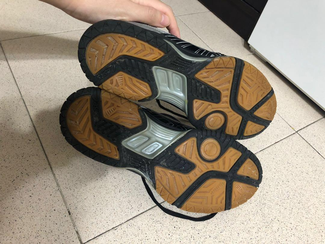 Asics Gel Rocket 7 Indoor Court Shoes, BlackSilver, Sports