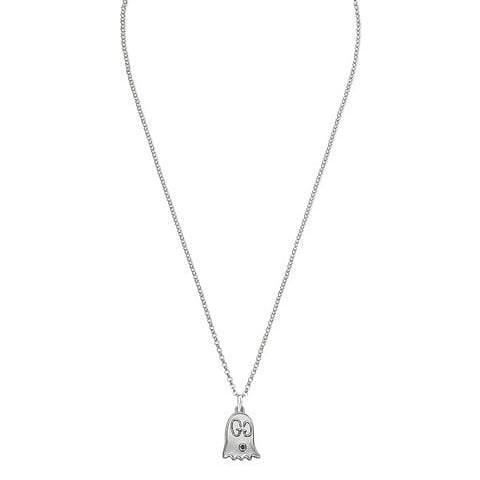 AUTHENTIC GUCCI GHOST GG LOGO SILVER NECKLACE- EXCELLENT CONDITION - ADJUSTABLE CHAIN LENGTH NECKLACE- COMES WITH GUCCI DUSTBAG - (RETAILS AROUND RM 1300+)