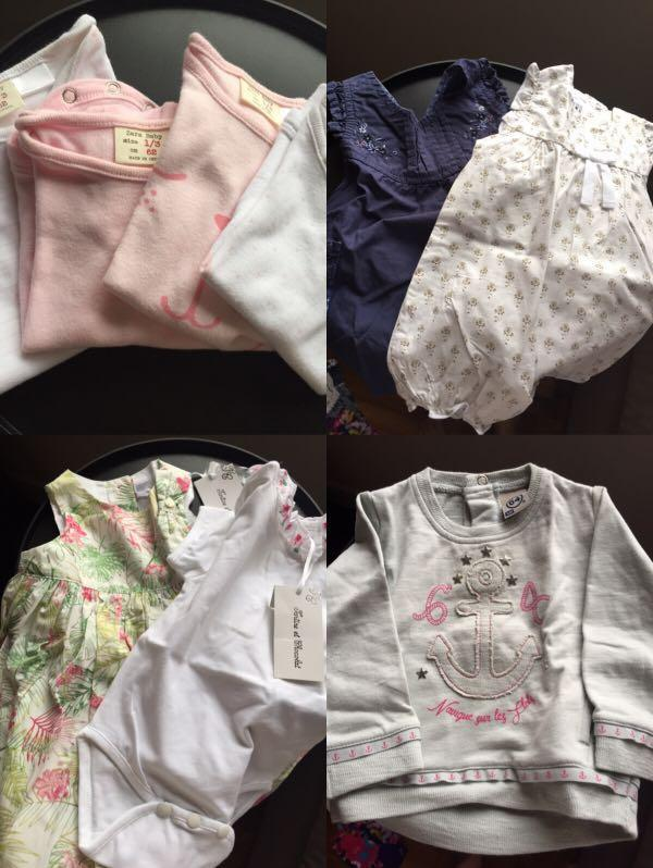 Baby girl clothes from 0 to 6 months