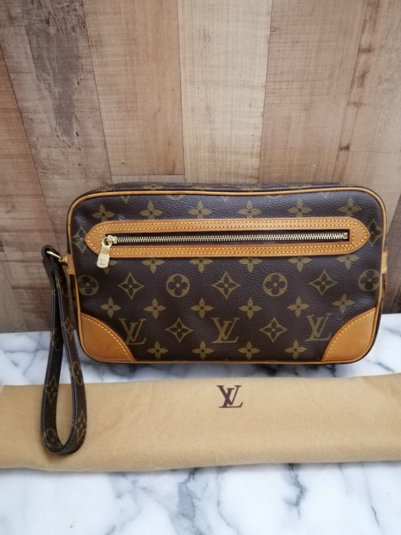 4f61a2cd7 [Best price $350] Louis Vuitton Marly Dragonne GM Bag, Luxury, Bags &  Wallets, Clutches on Carousell