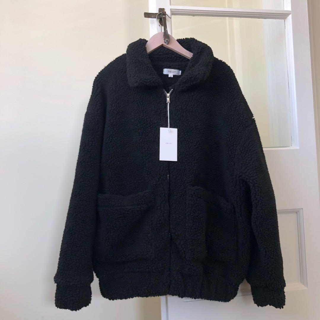 Black Teddy bear coat jacket