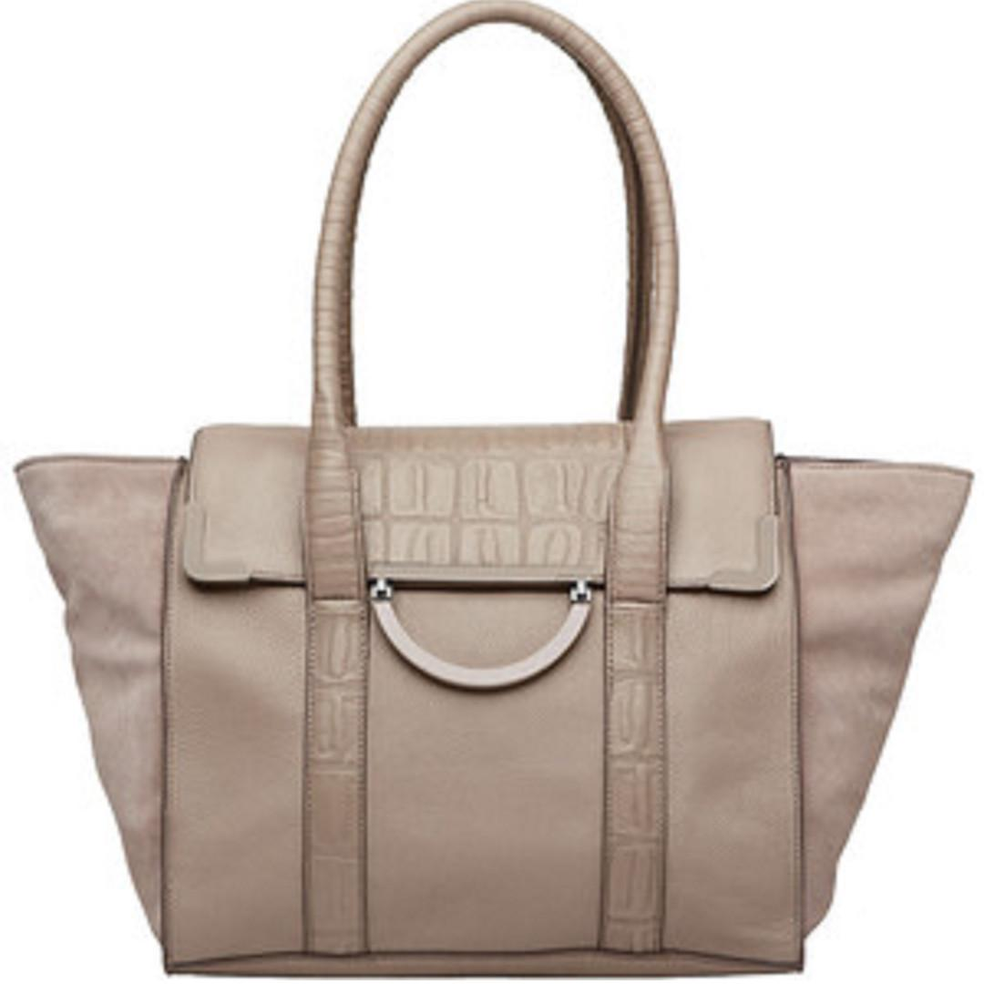 """BNWOT Mimco """"Electric Baroque"""" Day Satchel in Stone RRP$450"""