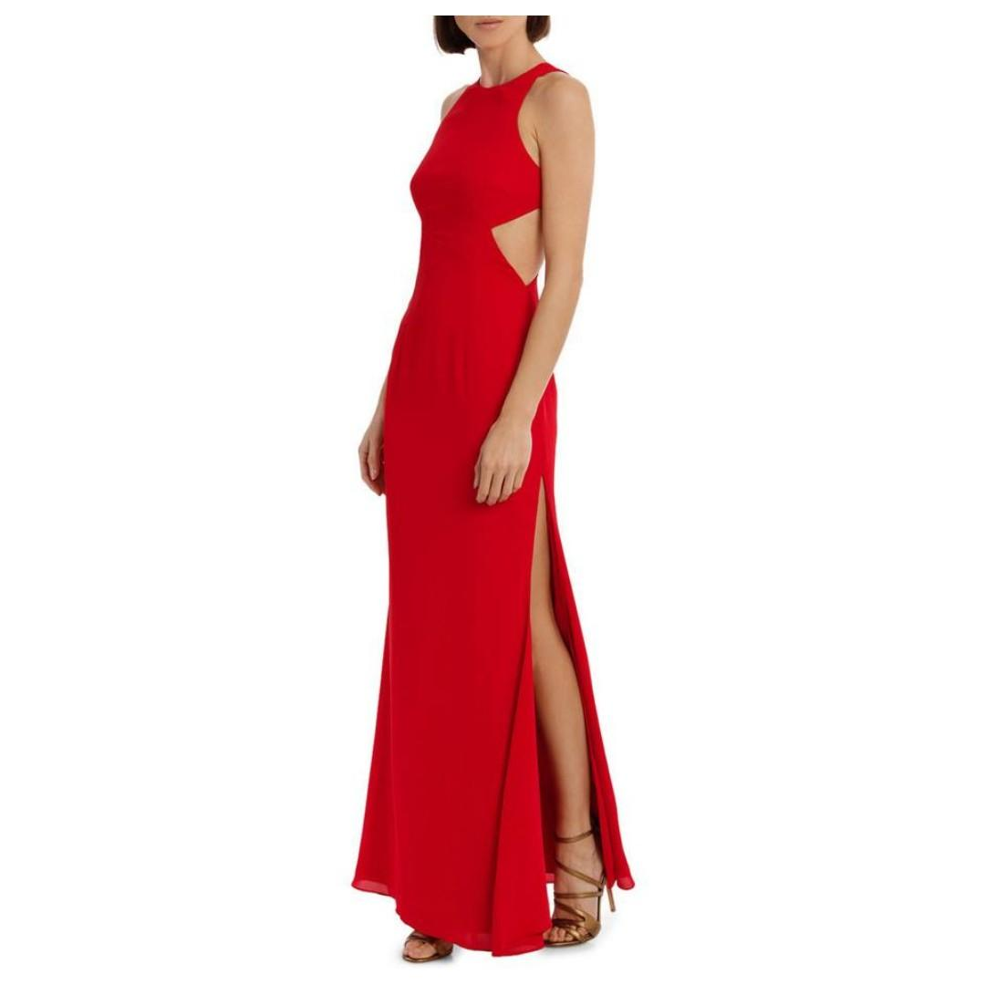 BNWT FAME & PARTNERS RED MIDHEAVEN DRESS - SIZE 8 AU (RRP $305)