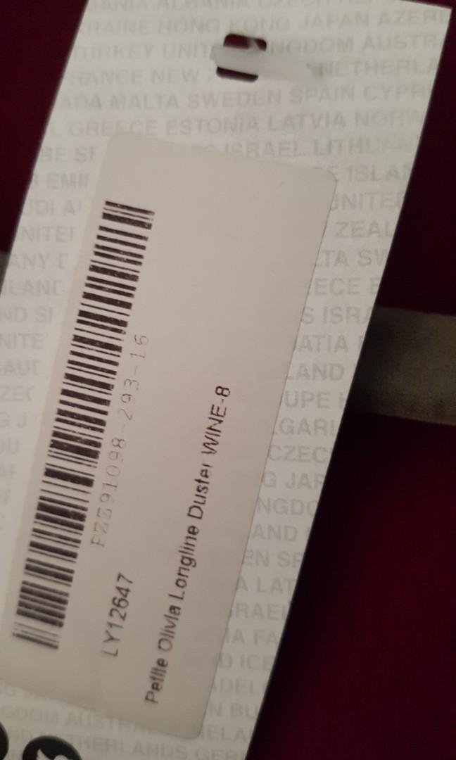 Brand New Boohoo Petite Longline Duster Coat RRP $45!!