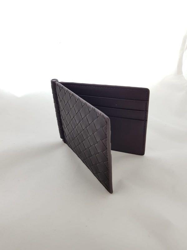 d4a7581b93c Brand new Bottega Veneta intrecciato money clip bi-fold wallet ...