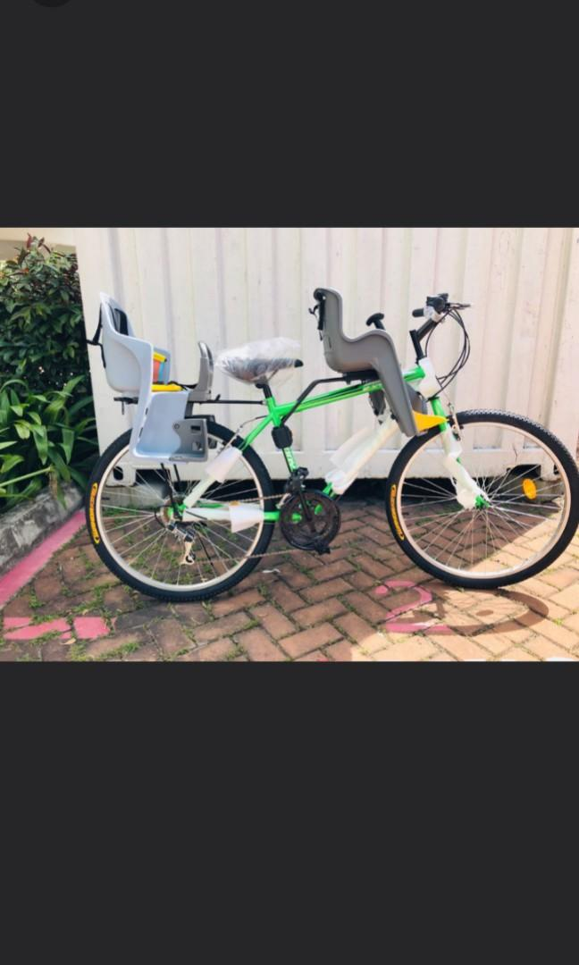 Brand new Sunny adult 26inch multi-speed bicycle with additional baby seats!!! Free delivery and bell !!!