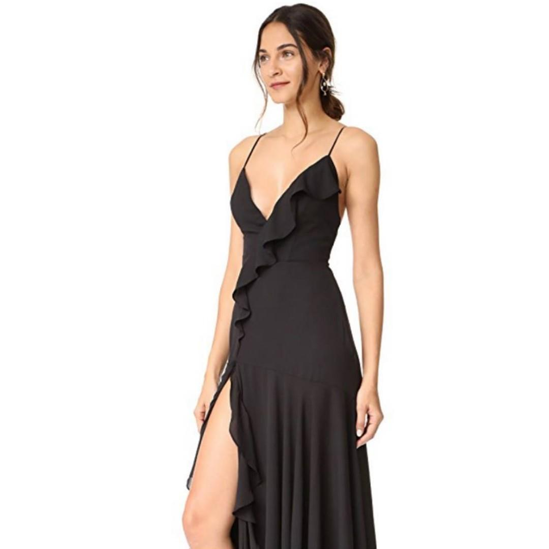 BRAND NEW WITH TAGS FAME & PARTNERS BLACK THE CALLAIS DRESS - SIZE 12 AU (RRP $379)