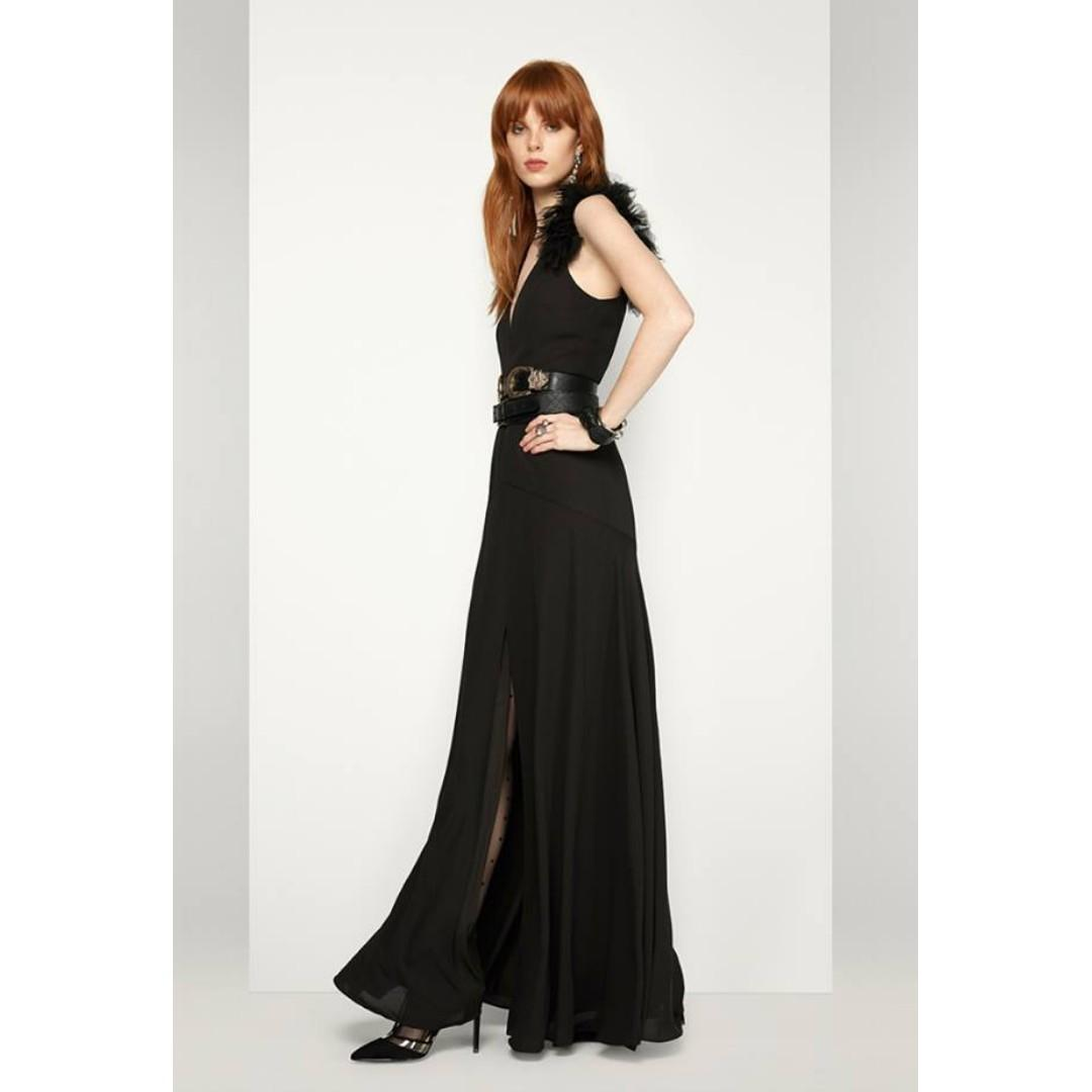 BRAND NEW WITH TAGS FAME & PARTNERS BLACK THE ORION GOWN - SIZE 10 AU (RRP $319)