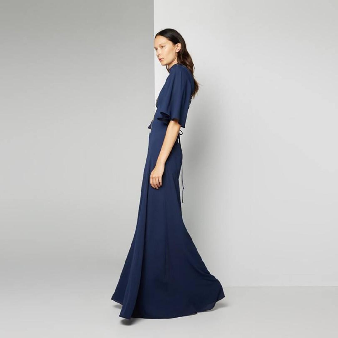 BRAND NEW WITH TAGS FAME & PARTNERS NAVY SIANA DRESS - SIZE 16 AU (RRP $329)