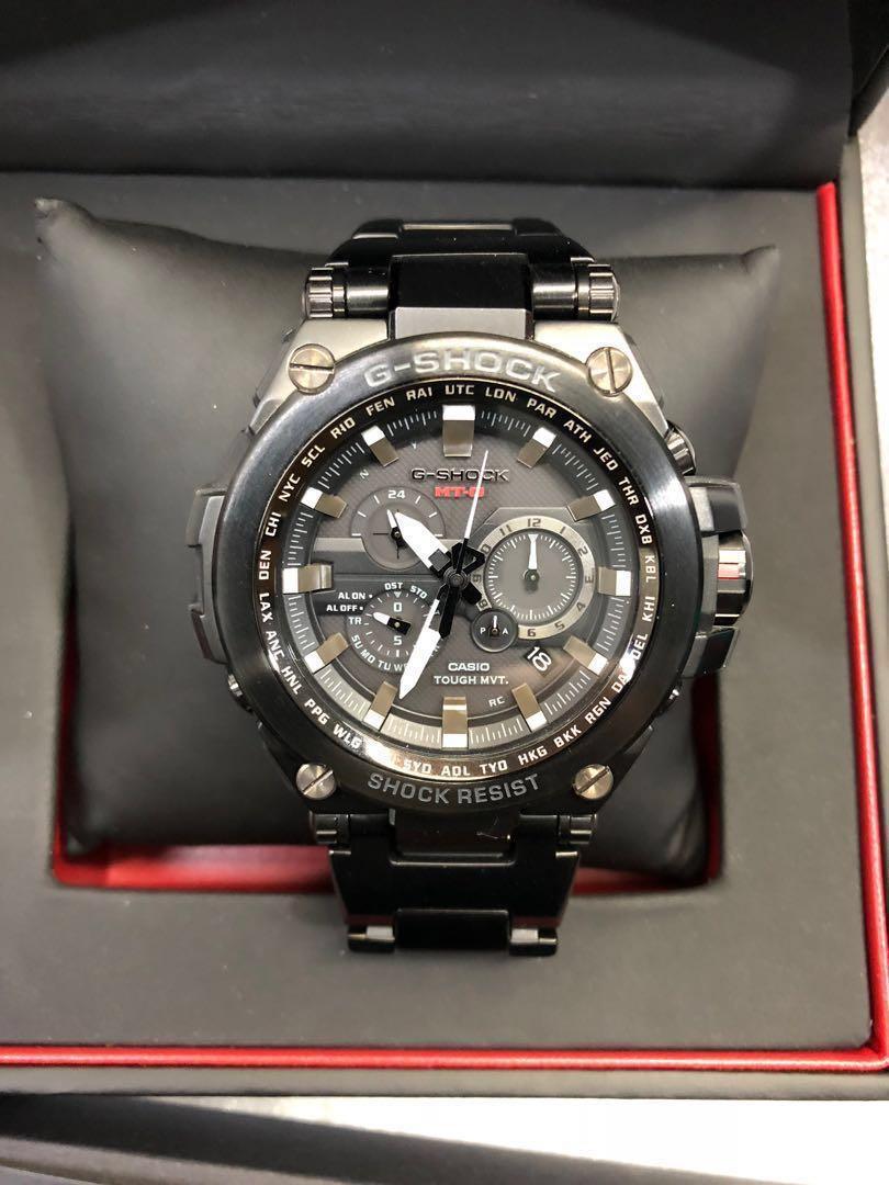 0e6ae40b5a28 Casio G-Shock MT-G Tough Solar Radio Controlled Men s Black Stainless Steel  Bracelet Watch MTG-S1000BD-1A