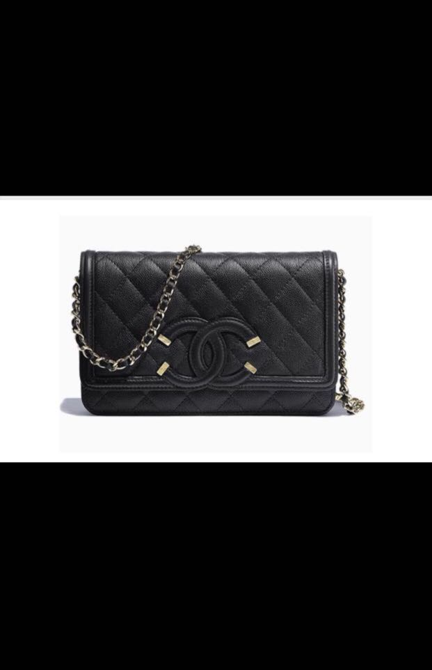 cc8f15340cab3e Chanel CC Filigree WOC, Luxury, Bags & Wallets, Sling Bags on Carousell