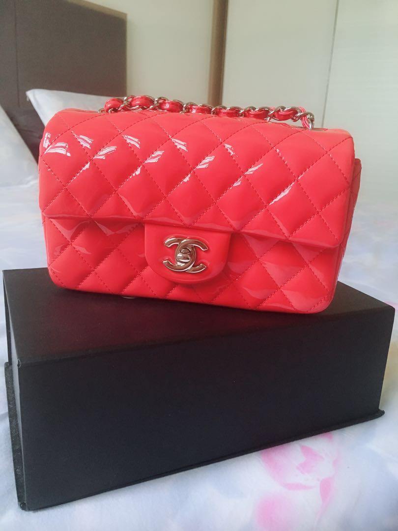 661bfc8ae74505 Chanel rectangular mini, Luxury, Bags & Wallets, Handbags on Carousell