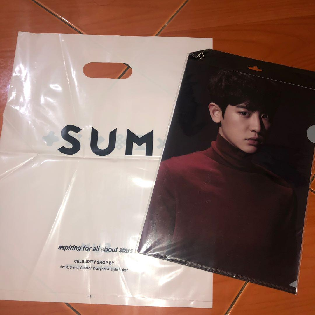 CHANYEOL EXO L HOLDER CLEAR FILE ORIGINAL SUM