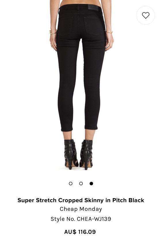 Cheap Monday Black Denim Jeans