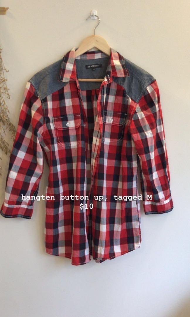 Checkered Shirt flannel button up