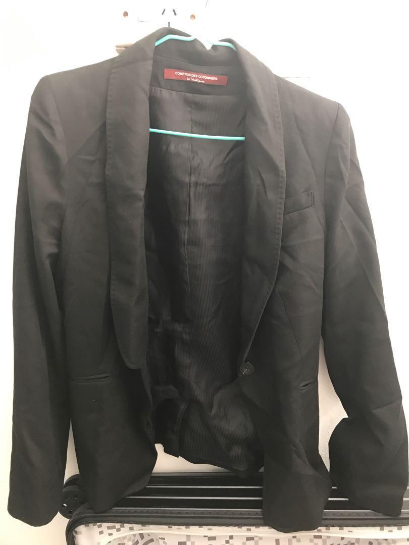 Comptoir Des Cotonniers Black Suit Jacket French Size 42