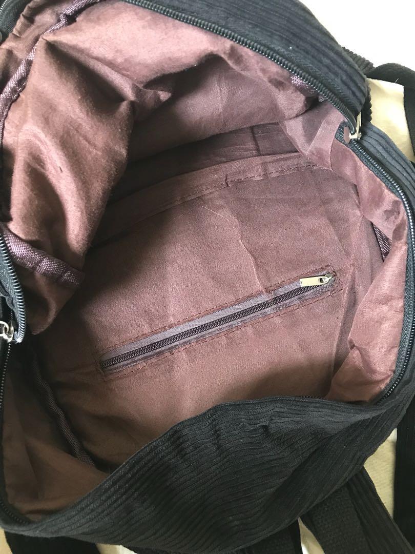 Corduroy backpack