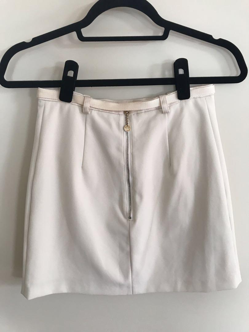 Elisabetta Franchi Cream Mini Skirt - Postage Included
