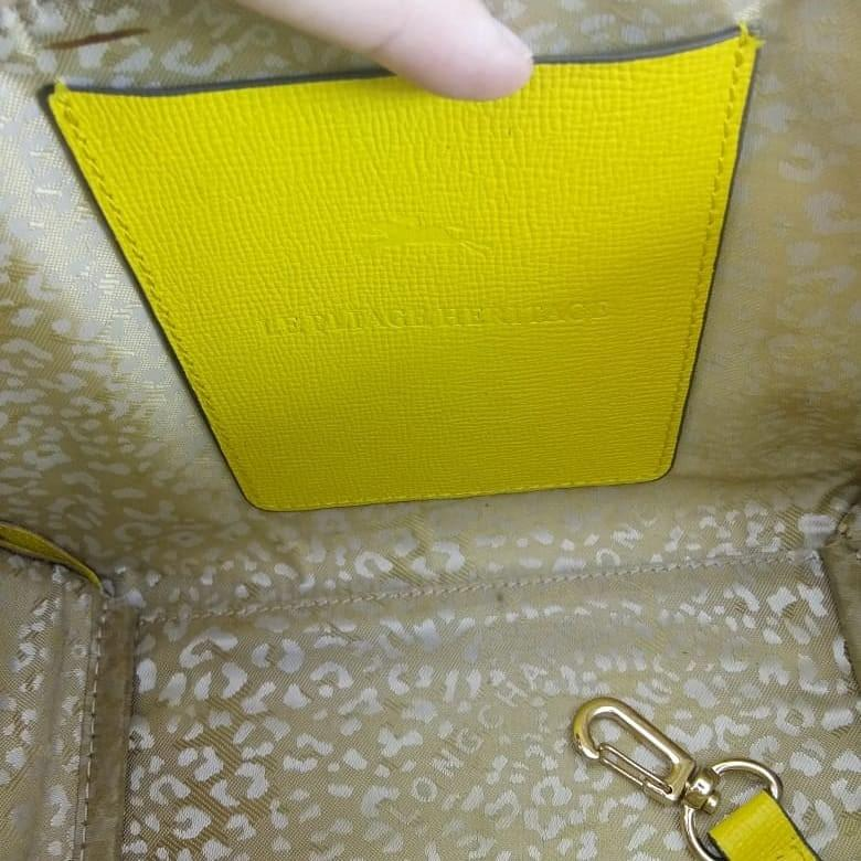 FAST SALE! LONGCHAMP YELLOW LEATHER AUTH