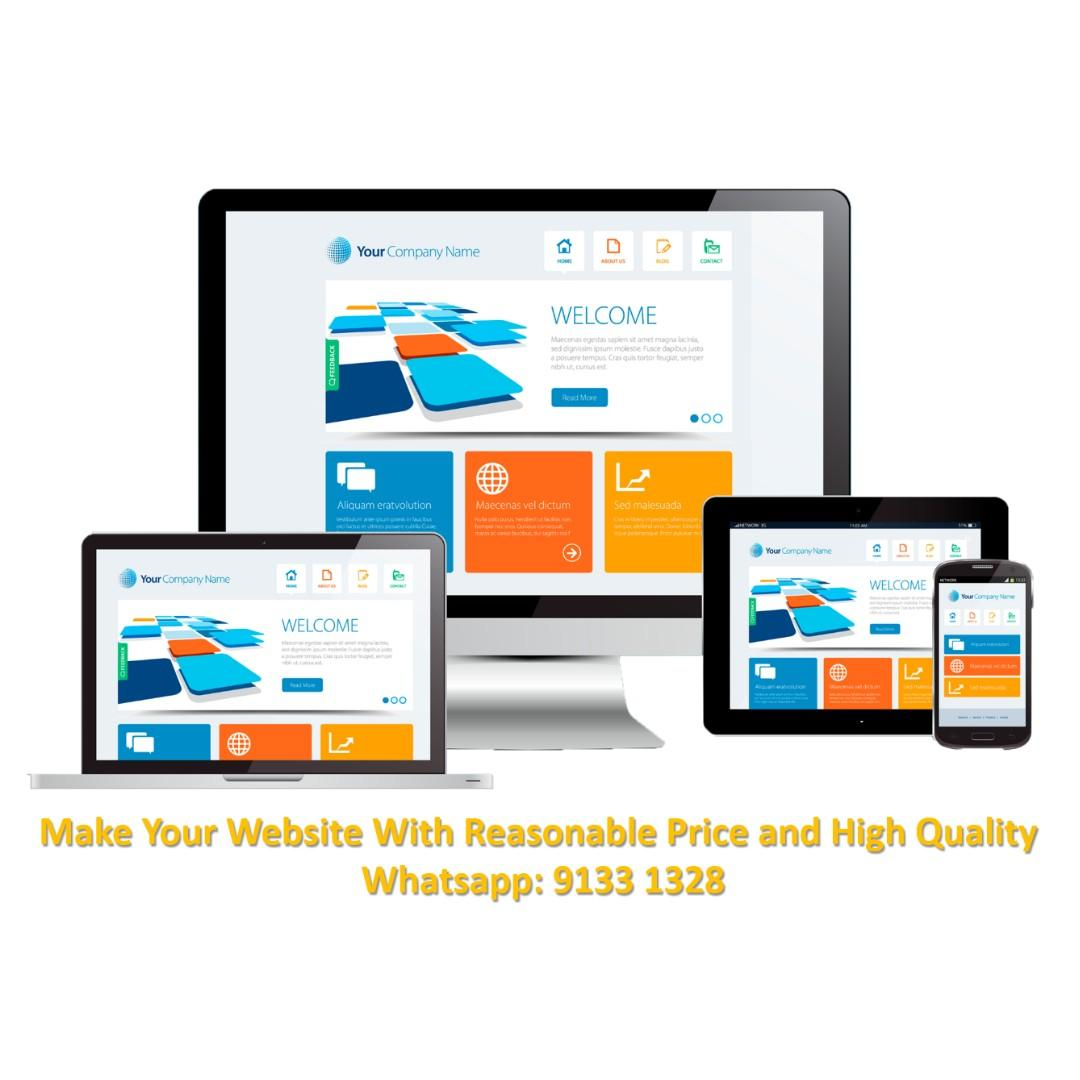Free consultation for making your website 小本製作網頁
