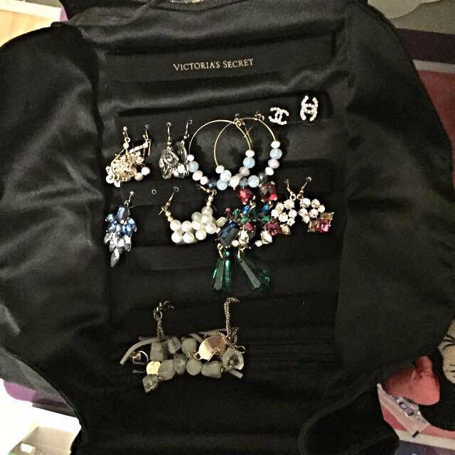 😆FREE SHIPPING* under 500g😆Victoria's Secret Leopard Travel Jewellery Bag
