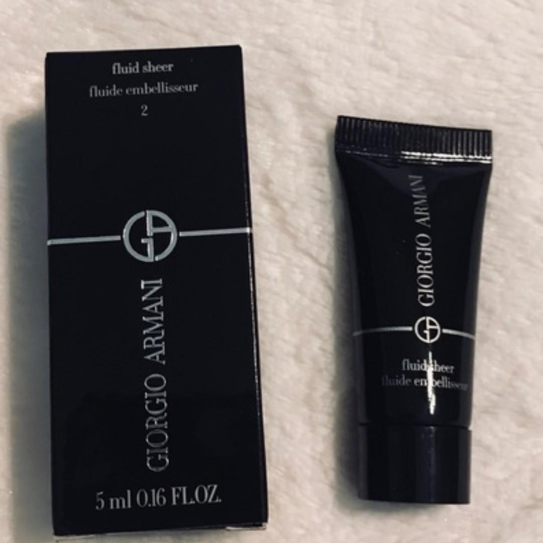 Giorgio Armani Fluid Sheer Shimmery Beige  MINI SIZE 2ml [BRAND NEW & AUTHENTIC] NO SWAPS, PRICE IS FIRM