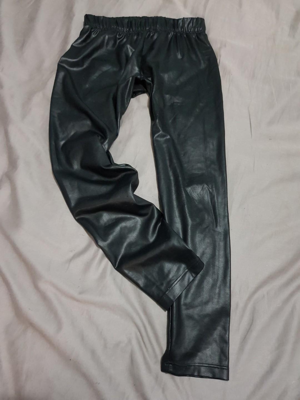 Girls size 10 fake leather pants