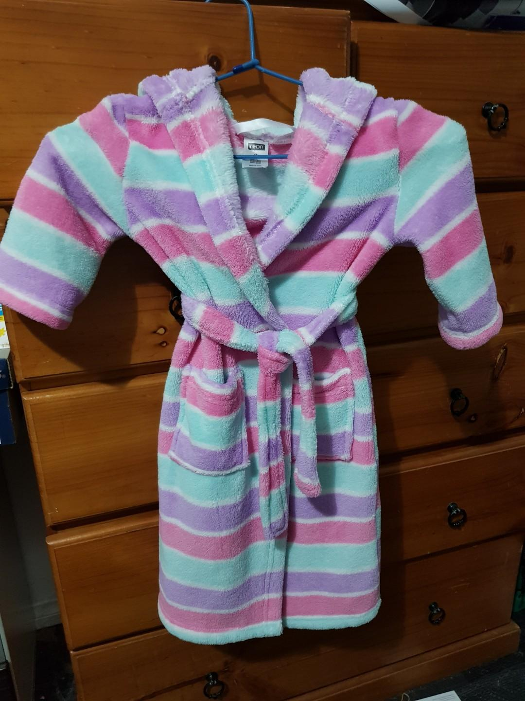Girl's size 2 dressing gown