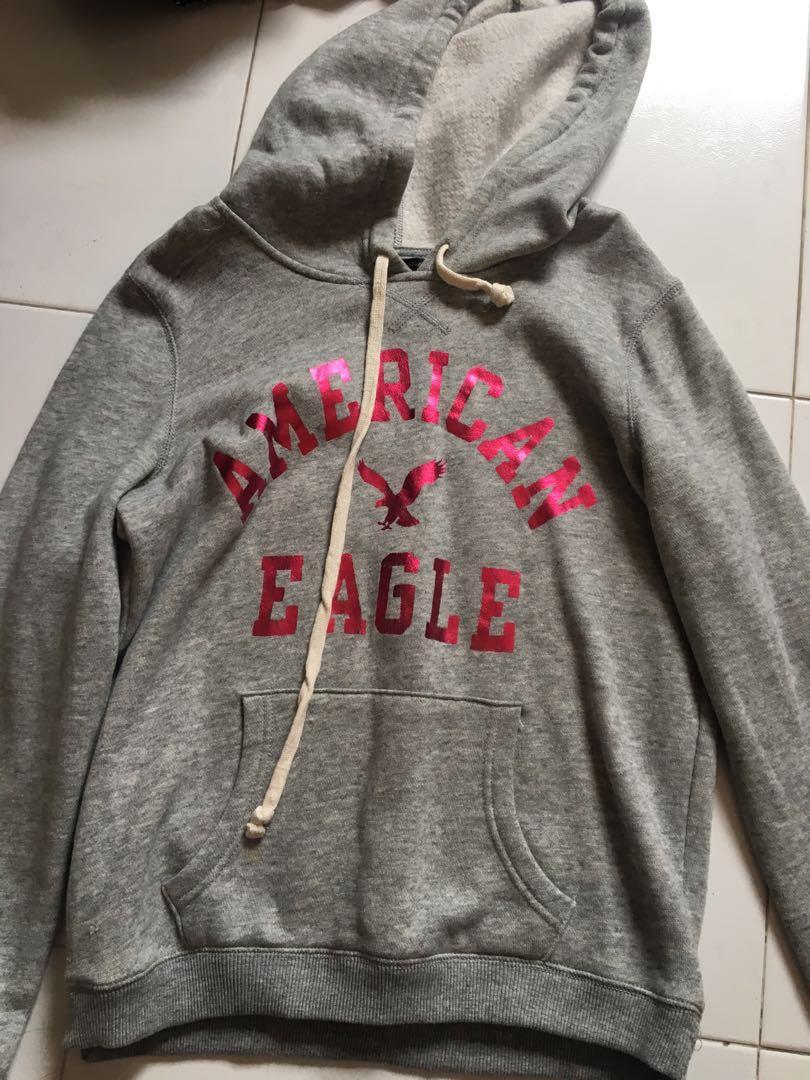 grey american eagle hoodie