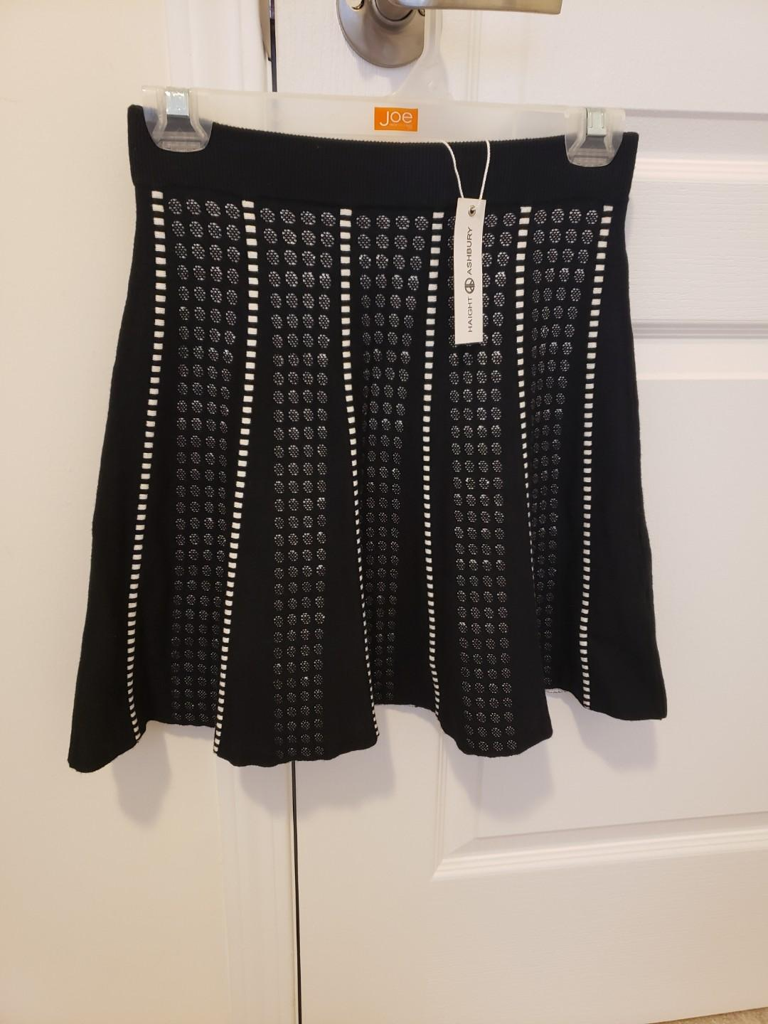 Haight Ashbury A Line Mini Skirt BNWT Sweater knit