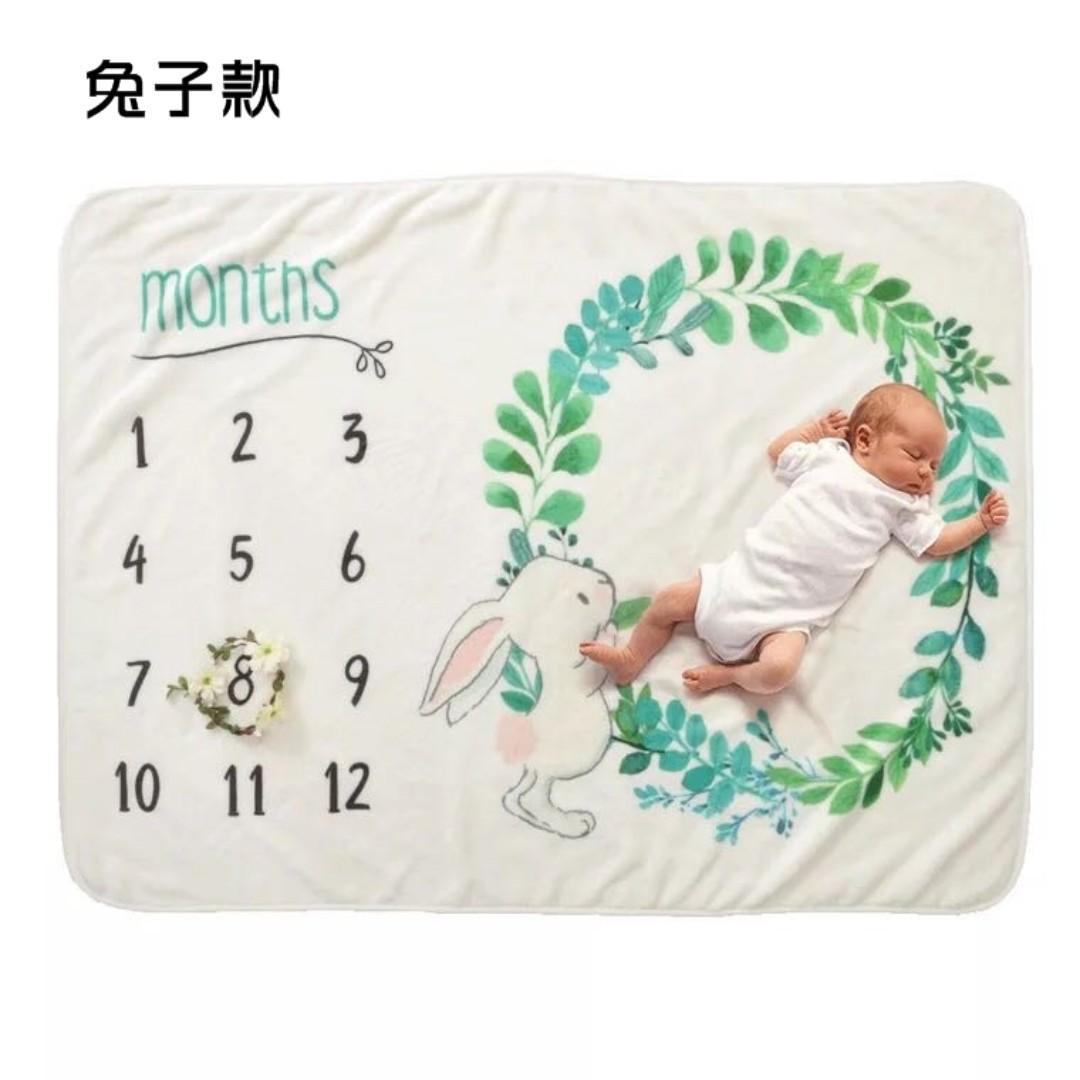 歐美INS款寶寶嬰兒新生兒珊瑚絨蓋毯拍照攝影紀念紀錄空調推車毯背景布