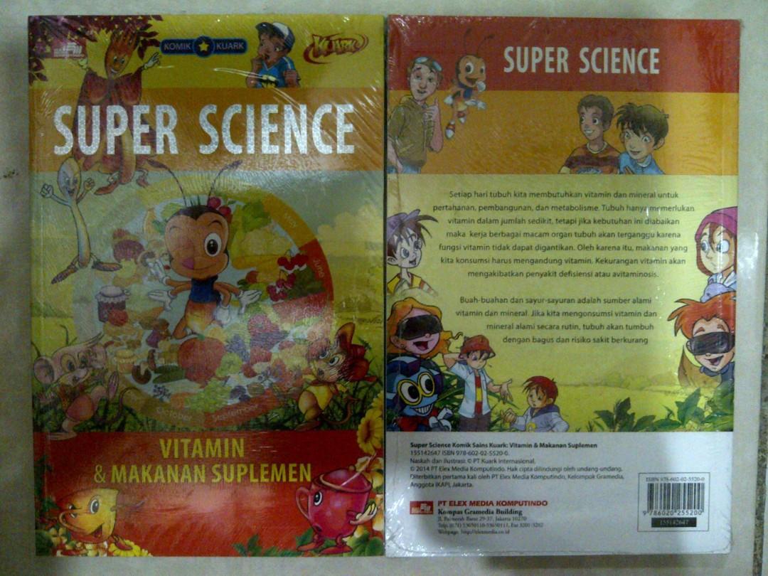 Komik Kuark Super Science Vitamin & Makanan Suplemen