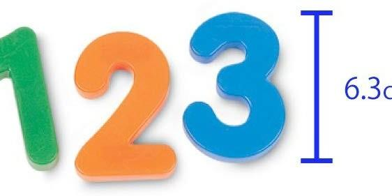 Learning Resources Jumbo Magnetic Number 36pcs Ages 3+