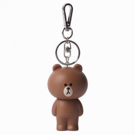 LINE friend Brown Keychain