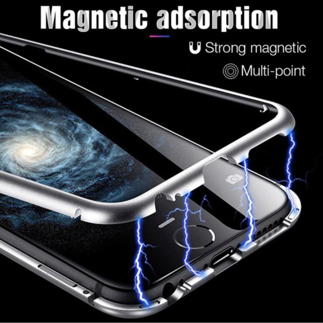Magnetic Absorption Tempered Glass iPhone XS max case