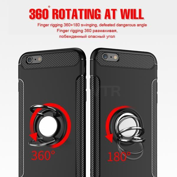 Magnetic Ring Shockproof Case For Holder Car Stand Cover